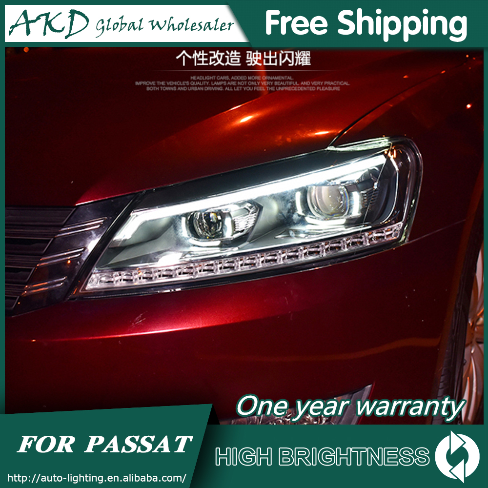Faros para VW Passat B7 2012-2016 Passat US DRL luces de día de funcionamiento faro LED Bi Xenon bombilla antiniebla accesorios de luces para coche