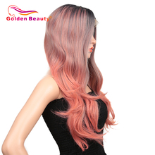 Synthetic Hair Wig Lace Front Wigs For Women Long Nature Wave Wig Heat Resistant