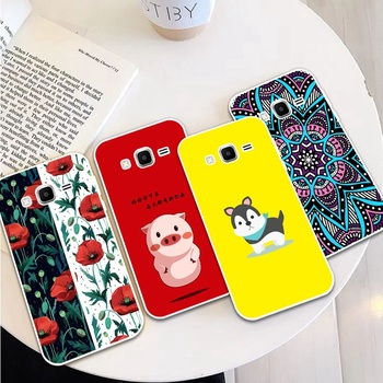 Carie-Dog 2 Silicon Soft TPU Case Cover For Samsung Galaxy Core Grand Prime Neo Plus 2 G360 G530 I9060 G7106 Note 3 4 5 8 9 image