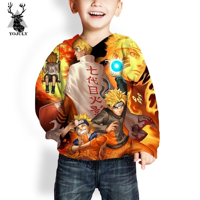 Child 3D Print Naruto Hoodies Sasuke Kids Fashion Anime Men's Sweatshirt O-neck Streetwear Girls Boys Hoody Unisex Pullover Tops