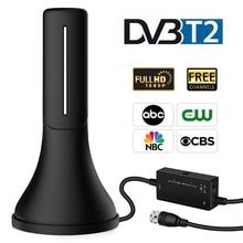 DVB T2 наружная внутренняя HD ТВ антенна с усиленным усилителем сигнала ТВ-тюнер 120 милей диапазон DVB-T2 4K антенна для цифрового ТВ