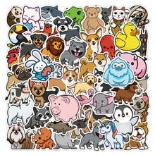 50 Pcs No Repetition Sunscreen and Waterproof Cute Animal Bee Orangutan Graffiti Stickers Laptop Luggage Car Sticker Waterproof