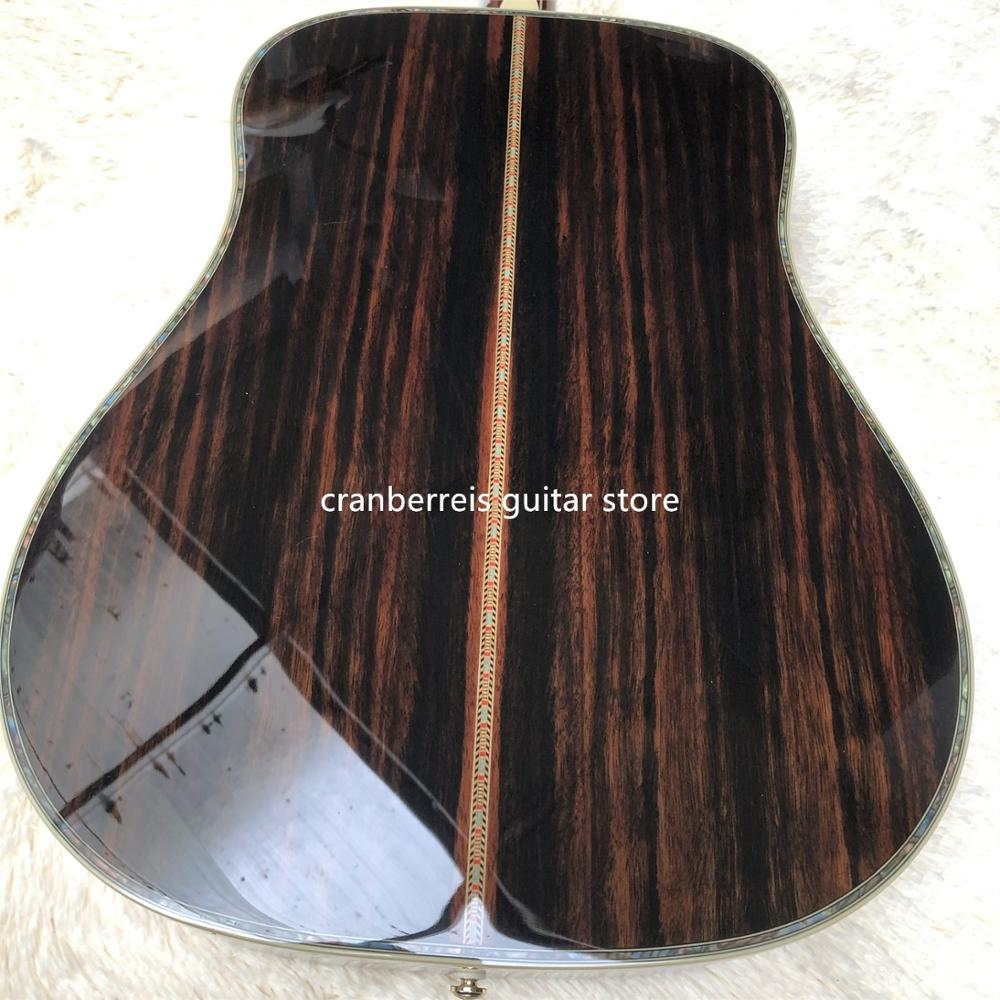 2020 new D model acoustic guitar,cocobolo back and side,41solid spruce top acoustic electric guitar,real abalone,free shipping image