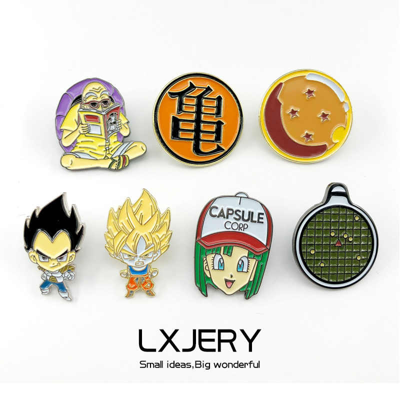Cartoon Anime Broches Voor Mannen Dragon Ball Emaille Pins Voor Kids Revers Pin Zak Pins Hoed Badge Dragon Ball Fans gift