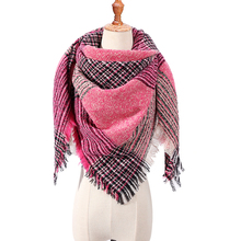 Women Scarf Pashmina Designer Winter Luxury Brand Shawl Wrap Spring Neck-Bandana Knitted