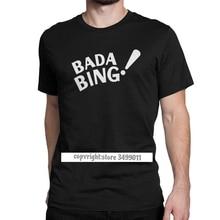 Bada Bing Sopranos T Shirts Men Premium Cotton Vintage Tops T Shirt Crime Drama Tv Series Tony Tshirts Camisas Tops