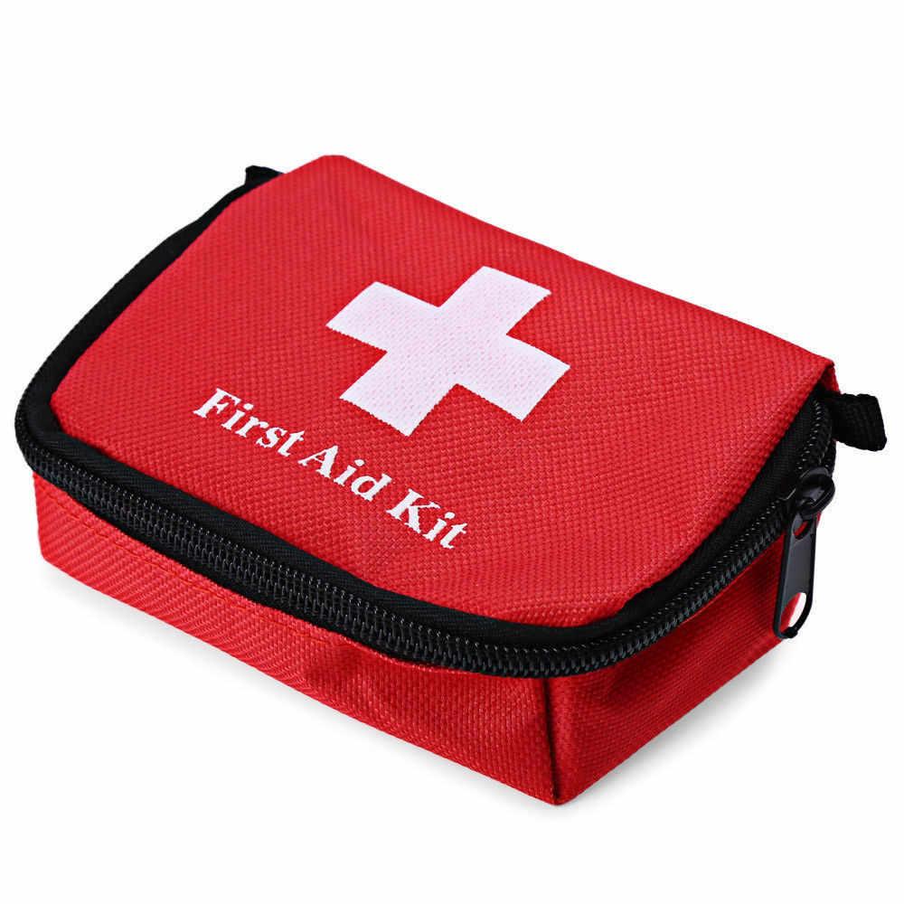 مجموعة الحبال المحمولة الإسعافات الأولية في الهواء الطلق المشي لمسافات طويلة التخييم السفر الطوارئ الطبية حقيبة مقاوم للماء قماش الرياضة بقاء حقيبة