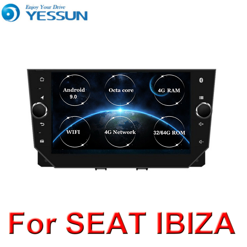 4G RAM+64G ROM DSP Octa core Android 9.0 Car DVD GPS For <font><b>Seat</b></font> <font><b>IBIZA</b></font> <font><b>2018</b></font> 2019 multimedia player <font><b>radio</b></font> image