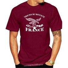 T-shirt Double face de l'armée des Troupes de Montagne, nouvelle mode française