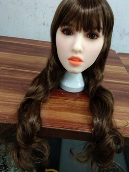 Silicone sex doll head sexy real size oral sex dolls realistic adult love doll heads
