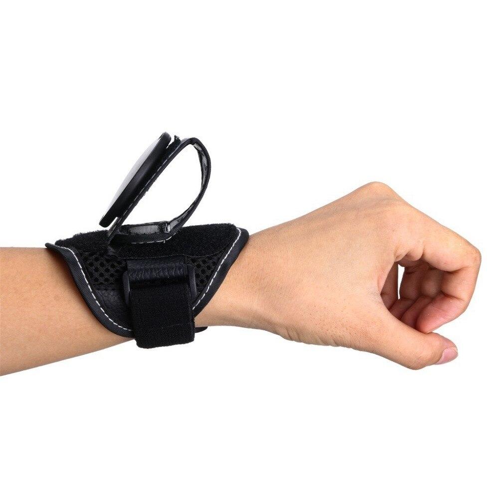 Hand Cycling Bike Wrist Strap Mirror Rearview Safety Arm Back Mirror Black AU