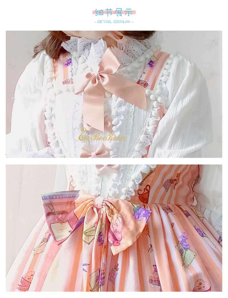 Disfraz de Cosplay de Halloween para chicas lindas Anime Lolita Jsk para mujeres vestido de princesa Rosa dulce disfraz de Lolita para adultos