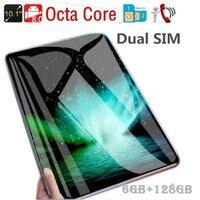 Хит продаж 10,1 дюймов Восьмиядерный 6G + 128G Android 8,1 WiFi планшетный ПК двойная SIM Двойная камера Bluetooth 4G WiFi телефонный планшет