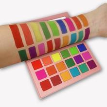 18 kolorów paleta cieni do powiek matowa Maquiagem Profissional Completa Bright Shimmer paleta do makijażu długotrwała paleta cieni do powiek