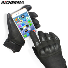 Motorcycle-Gloves Fingerless Touch-Screen Black Women Summer Knuckles Goth Fashionable