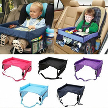 Waterproof Baby Child Car Seat Tray Storage Rack Car Safety Rear Trunk Storage Net Cellphone Baby Stroller Food Desk Holder