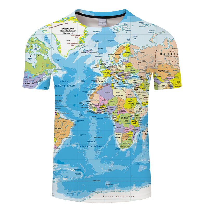 World Map Printed 3D <font><b>T</b></font>-<font><b>Shirt</b></font> For Male Funny Tshirt Homme Summer Breathable Tshirt <font><b>Men</b></font> Short Sleeve <font><b>Shirts</b></font> Asian Size S-<font><b>6xl</b></font> image