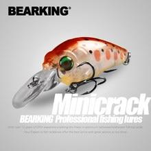 Bearking modelo quente profissional a + iscas de pesca mini manivela minnow 35mm 3.7g mergulho 2.0m equipamento de pesca isca dura