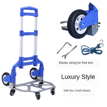 Trolley-Cart Hand-Truck Moving for Indoor Travel Wheels Adjustable Luggage Folding Aluminum-Alloy