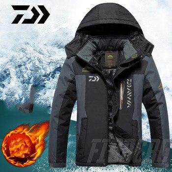 Ropa de pesca DAIWA invierno Otoño Invierno chaquetas de pesca calientes impermeables hombres de lana gruesa pesca al aire libre camisas M-9XL