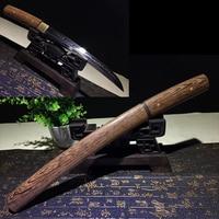50cm Tanto katana knife real T10 clay tempered blade razor sharp edge rosewood sheath sword for home decoration practice