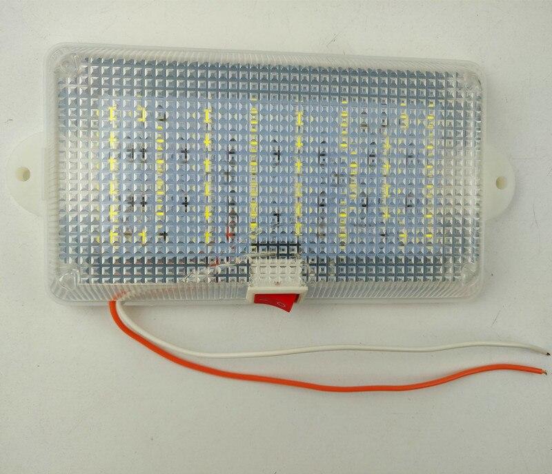 24 فولت سيارة شاحنة LED مصباح غرفة القيادة سيارة أجرة ضوء السقف مع التبديل المقصورة تعديل العالمي السوبر مشرق الضوء الأبيض