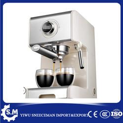 Semi-automatic small steam coffee machine milk bubble one time can make two cups