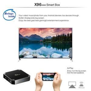 Image 4 - X96 mini X96mini Smart TV BOX Android 7.1 2GB/16GB TVBOX X 96 mini Amlogic S905W H.265 4K 2.4GHz WiFi zestaw odtwarzacza multimedialnego Top Box