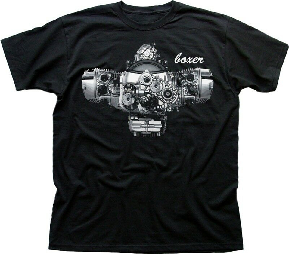 Boxer Engine R1200GS <font><b>GS</b></font> R Adventure R1200RT R1200R black <font><b>Tshirt</b></font> 9799 sportswear Men Tops Tee Shirt image