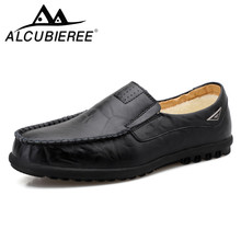Men Loafers Driving-Shoes Casual-Shoes Moccasins Italian Winter Genuine-Leather Luxury Brand