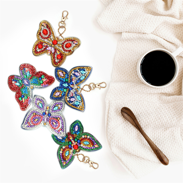 HUACAN Special Shaped Diamond Painting Keychain 2019 New Diamond Embroidery Keyring Bag Diamond Mosaic Accessories