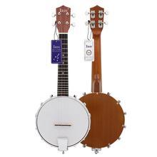 Banjo Ukulele 4 Strings Banjo Ukulele Sapele Wood Traditional Western Concert Bass Guitar for Musical Stringed Instruments