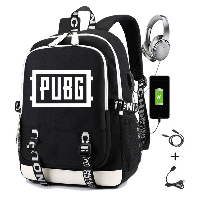 Playerunknown's Battlegrounds <font><b>Backpack</b></font> Men Print <font><b>PUBG</b></font> Students School Bag Women Causal Travel Laptop <font><b>Backpack</b></font> with Charging USB image