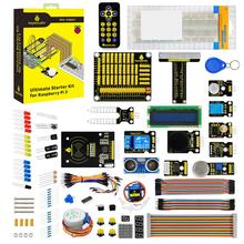 Keyestudi Kit de iniciación Ultimate Learning para Raspberry Pi 4B w/Tutorial, ADXL345, HC SR04 ultrasónico, lcd 1602