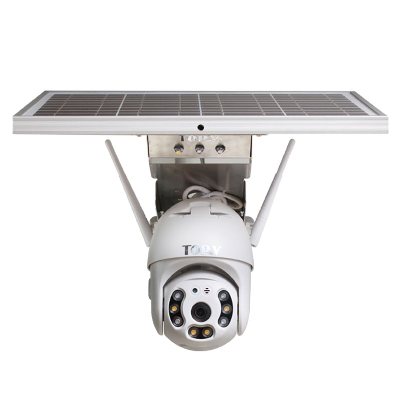 4G Outdoor Night Vision Solar Powered CCTV Security Camera With Two-way Audio