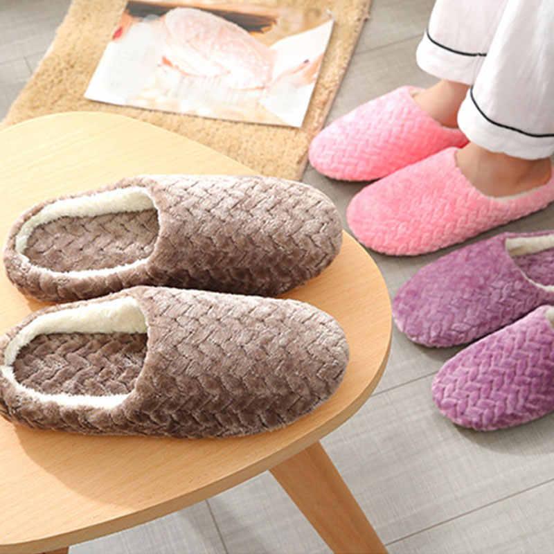 Sonbahar Kış Wo erkek terlikleri Alt Yumuşak Ev Ayakkabı Pamuk erkek terlikleri Kapalı Slip-On Slaytlar Kadınlar rahat ayakkabılar Çift Için