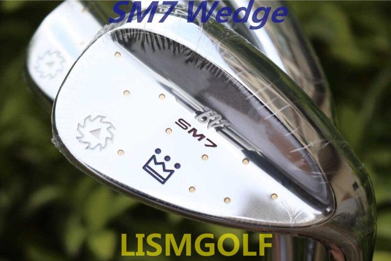 SM7 cales Vokey Design Clubs de Golf SM7 sable Lob cale 50/52/54/56/58/60 degrés arbre en acier avec miroir argent Putter fers