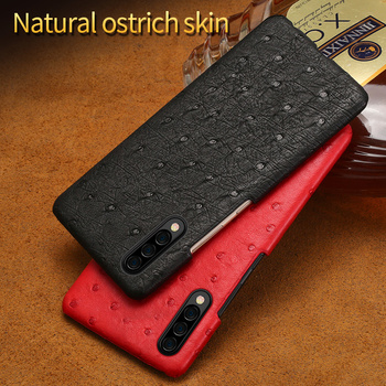 Original leather phone case For samsung a50 a70 a30 a40 a60 Luxury Real Ostrich skin back cover For Samsung Galaxy note 10 plus