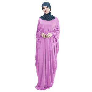 Image 5 - Hồi Giáo Tay Cánh Dơi Áo Dây Nữ Khimar Abaya Hồi Giáo Đầm Maxi Dài Jilbab Ramadan Đồng Màu Ả Rập Áo Choàng Cầu Nguyện Quần Áo Garm