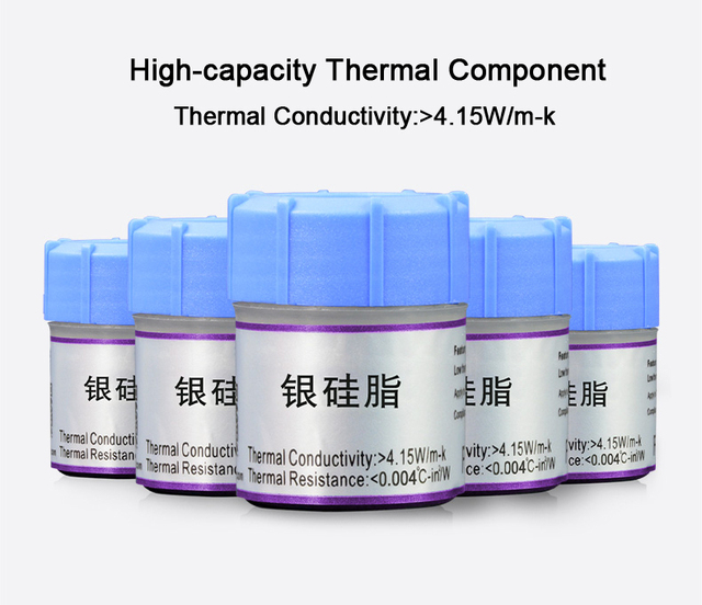 2020 New Processor CPU GPU Cooler Cooling Fan Thermal Grease VGA Compound Heatsink Silicone Plaster Paste Heat Sink Compound 5
