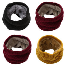 Warm Scarf Wrap Brushed Shawl Snood Cowl Loop Circle Climbing Winter Ring Women Knit