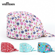 wholesale Elastic lab hats scrub cap women and men scrub hat adjustable size