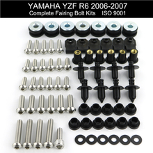 For Yamaha YZF R6 YZF-R6 2006 2007 Complete Full Fairing Bolts Kit Fairing Clips Nuts Screws Motorcycle Stainless Steel for yamaha yzfr1 yzf r1 yzf r1 2004 2005 2006 full fairing bolts kit fairing clips nuts bodywork screws stainless steel