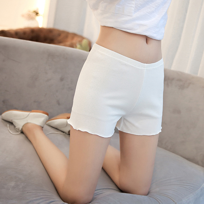 White Sexy Hot Shorts Women Summer Clothes Boyshort Panties High Elasticity Stretchy Bottom Safety Pants Lingerie Underwear XL