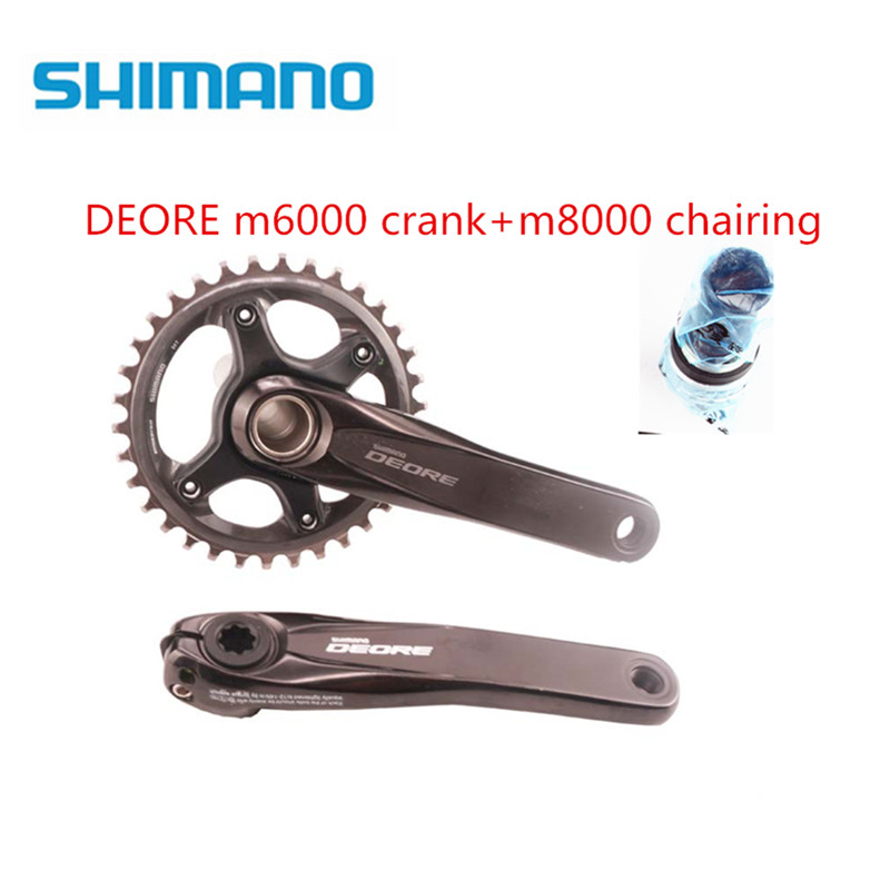 shimano DEORE M6000 11 speed bike bicycle mtb crankset with SLX M8000 chainring with bb52 Bottom