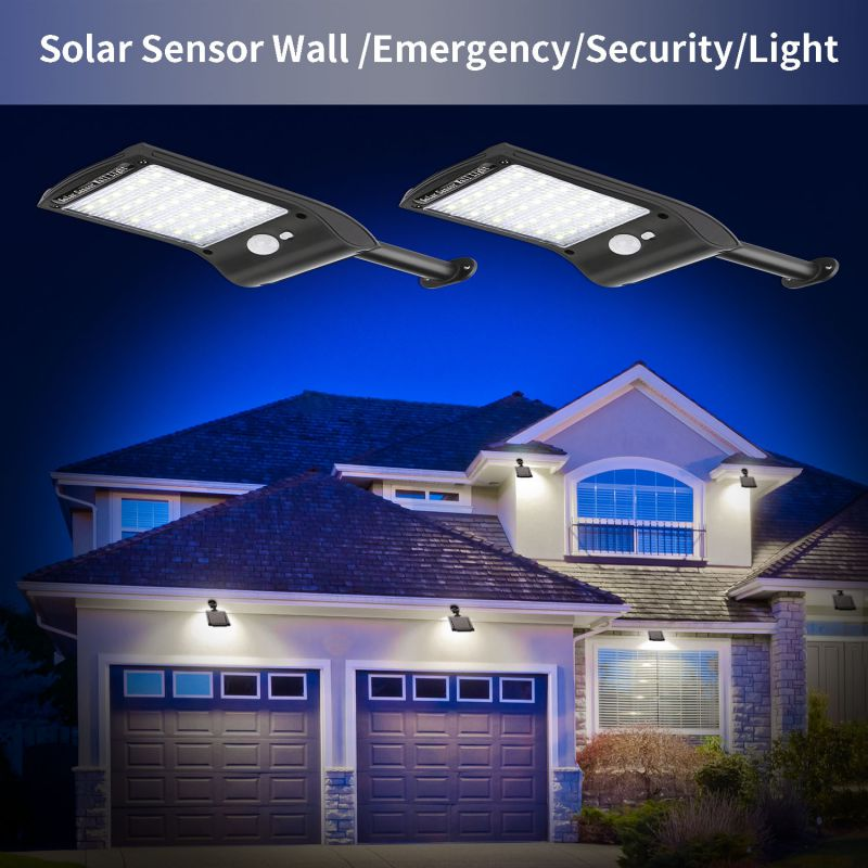36 LED Solar Light PIR Motion Sensor Ip65 Waterproof Outdoor Street Wall Garden Lamp Spotlight Floodlight Rotable Bracket Remote