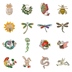 Terreau Kathy Insect Bee Frog Brooches Pin Female Hijab Pin Snails Beetle Male Suit Lapel Pin Jewelry Coat Accessories Gift(China)