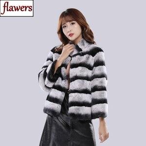 Image 1 - 2020 Hot Sale Women Winter Hight Quality Real Rex Rabbit Fur Coat Russia Lady Warm Natural 100% Genuine Rex Rabbit Fur Jacket