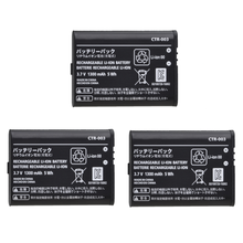 3 шт 1300 мАч ctr 003 ctr003 аккумуляторные батареи для nintendo
