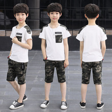 Boys Camouflage Summer Clothes Fashion Casual Short Sleeve Children Clothing Set T-shirt + Shorts Sport Suit Kids Outfits 4-16 Y